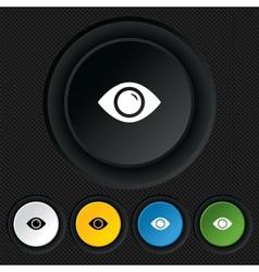 Eye sign icon publish content button vector