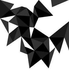 Dark triangle background or flat pattern vector