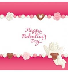 Valentine candy background vector