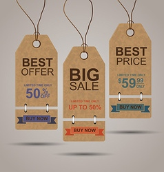 Shopping and retail design elements vector