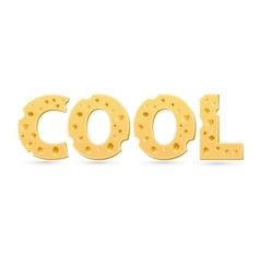Cool word of cheese vector