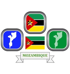 Symbol of mozambique vector