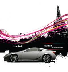 Paris background vector