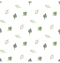 Seamless stylized green leaves pattern vector
