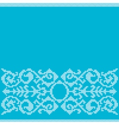 Cross stitch embroidery vector