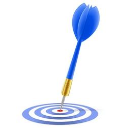 Blue dart hitting the target vector