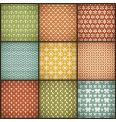 Vintage summer seamless patterns with swath tiling vector
