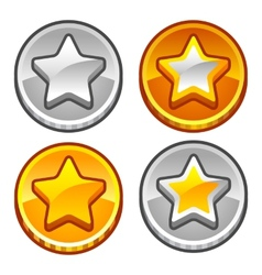 Star coins vector