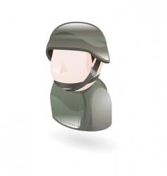 Modern soldier vector
