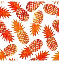 Watercolor vintage pineapple seamless vector