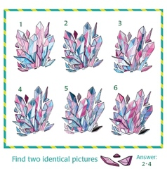 Visual puzzle - find two identical images of vector