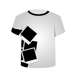 T shirt template- polaroid collage vector