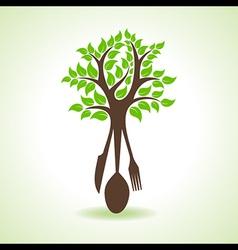 Restaurant forks make a tree vector