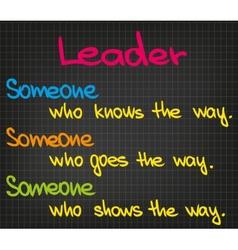 Leader vector