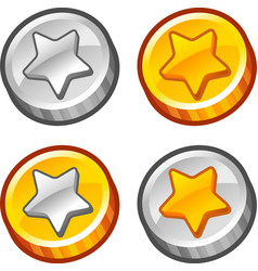 Star coins 4 vector