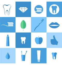 Dental hygiene icon set vector