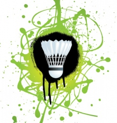 Badminton splat vector