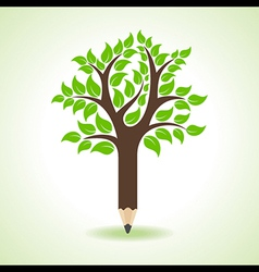 Ecology concept - pencil make a tree vector