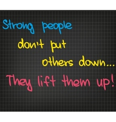 Strong people vector