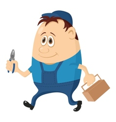Worker with pliers vector