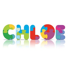Chloe written with alphabet puzzle vector