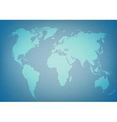 Blueeprint style world map package background vector