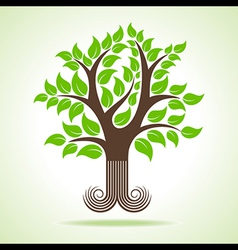 Abstract tree design vector