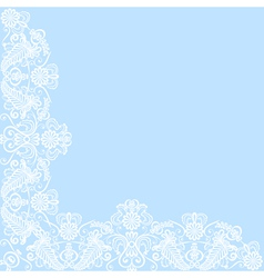Card with lace border vector