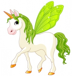 Fairy tail green horse vector