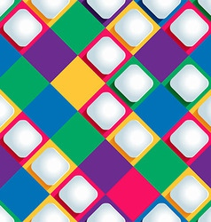 Seamless pattern from paper rhombus on a colored vector
