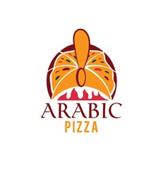 Arabic pizza design template vector