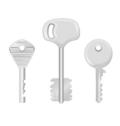 Door keys isolated on white background vector