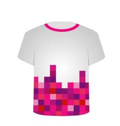 T shirt template- pixel art vector