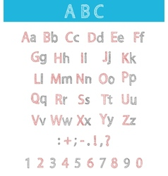 Classic hand drawn alphabet abc for your design vector