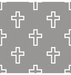 Protestant cross seamless pattern vector
