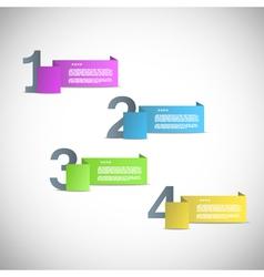 Paper templates for progress presentation vector