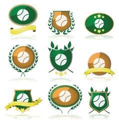 Tennis badges vector