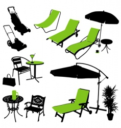Outdoor items vector