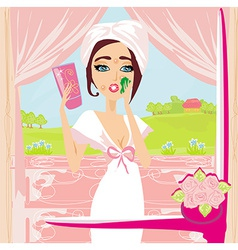 Girl with a pimple vector