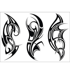 Maori styled tattoo pattern for a shoulder vector