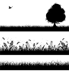 Nature background silhouette vector