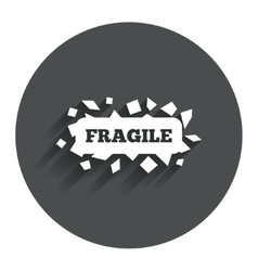 Fragile parcel icon package delivery symbol vector