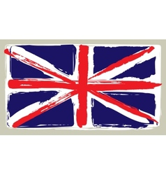 Flag of united kingdom in painting brush style vector