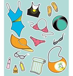 Summer beachwear vector