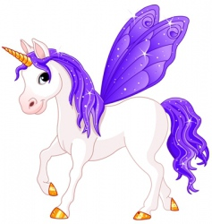 Fairy tail horse vector