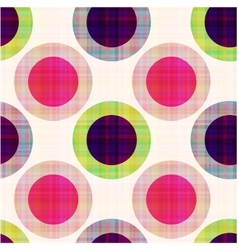 Seamless geometric polka dots pattern vector