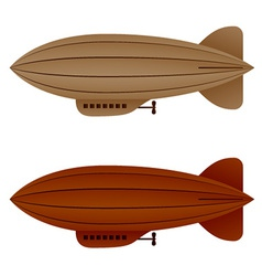 Brown vintage airship zeppelin vector