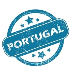 Portugal round stamp vector