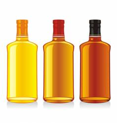 Whiskey bottle and glass vector