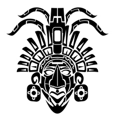 Mayan mask tribal tattoo vector